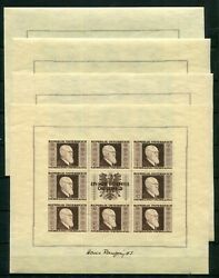 Austria 1946 B185-b188 Dr Renner Complete Set Of Sheets Perfect Mnh