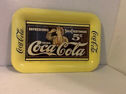 Vintage Tray Issued In 1989 - Coca-cola 1907 Advertising Miniature Metal Tray