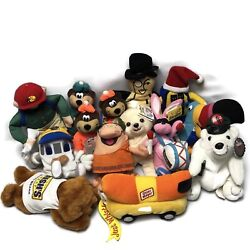 Vintage Stuffed Animals Plush Advertising Lot Of 14 Dead Stock Promotional Tags
