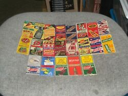 Advertising Matchbooks-collection Old Sodas-coca-cola,pepsi,dr. Pepper,squirt+++