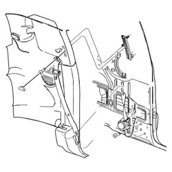 Chrysler 5gh58lazae - Seat Belt. Right. Front Outer. Diagram 1