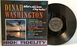 Dinah Washington What A Difference A Day Makes Lp 1959 -play Tested Vg R1