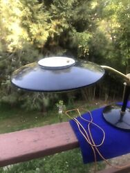 Vintage Retro Dazor Mid Century Modern Space Age Flying Saucer Desk Lamp Cool