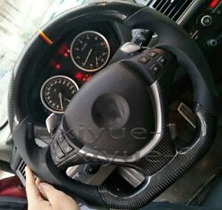 New Real Bmw Carbon Fiber Perforated Leather Custom Steering Wheel X5 E70 X6 E71