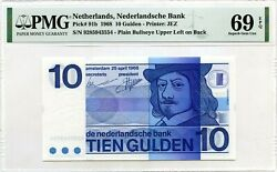 Netherlands 10 Gulden Nd 1968 Nederlandsche Bank Pick 91 B Value 1600