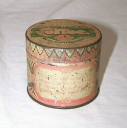 Vintage Chase And Sanborn's High Grade Coffee Sample Tin Pink And Green 2 X 2 1/2