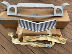 74-77 Camaro Nos Header Panel Grill And Grill Inserts