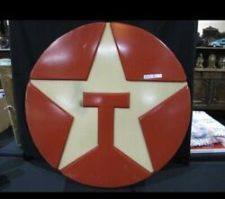 Awesome Mid Century Texaco Advertising Lighted Sign 33andrdquo D