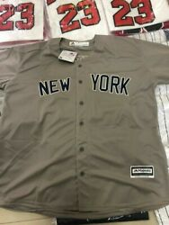 New York Yankees #42 RIVERA Grey Jersey Size SMALL