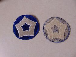 MILITARY PATCH US ARMY COLORED SEW ON FOR SHOULDER 5TH SERVICE COMMAND VERY OLD $1.99