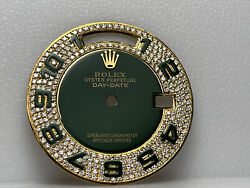 Rolex Custom Diamond Pave Dial W/ Arabic Markers 36mm Quick-set Day-date