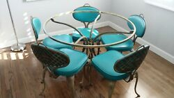 1960 Thin Line Vintage Mid Century French Country Patio Table 5 Chairs 10,000
