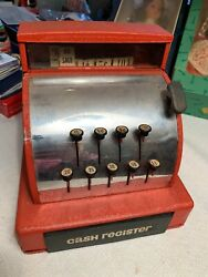 Vintage Red Tom Thumb Cash Register Toy Western Stamping Co.