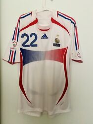 Ribery, 2007 France Vs Italy Match Issue Un Worn Shirt Rare Fff Maillot