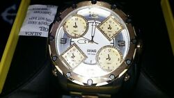 New Shaq 58mm Diamond Dial 5 Time Zones Quartz 2 Tone Gold And Stainless