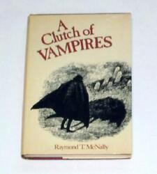 A Clutch of Vampires by Raymond T. McNally 1974 Hardcover $10.99