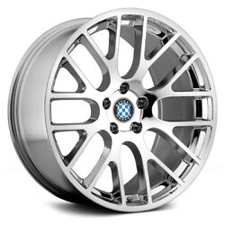 Beyern Spartan Wheels 17x8 15 5x120.65 74.1 Chrome Rims Set Of 4
