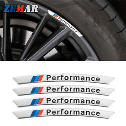1set M Power Performance Racing Wheels Rims Car Stickers For Bmw Accessories
