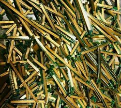 Assemble Of 200g Trimmed High Quality Scrap Gold Plated Ram Sticks For Recovery
