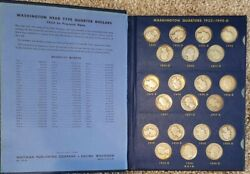 Complete Washington Silver Quarter 83 Coin Set 1932-1964 With Key 1932d And 1932s