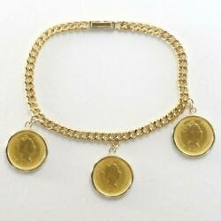 Nuget 1 10oz Coin 24k Yellow Gold 18k Bracelet About21.8g Free Shipping Used