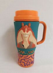 Star Wars Episode 1 Jar Jar Binks 3d Travel Mug/cup By Applause 1999 - Rare