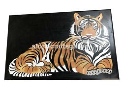 3and039x2and039 Marble Dining Table Top Mosaic Tiger Inlay Art Interior Living Decors B022