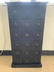Vintage Library Style 18 Drawer Cabinet
