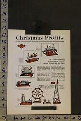 1930 Toy Ad Empire Electric Steam Engine Tin Litho Windmill Metal Wo Rivers Tb72