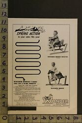 1954 Toy Ad Rocking Hobby Wonder Horse Spring Action Pony Collierville Tenn Te56