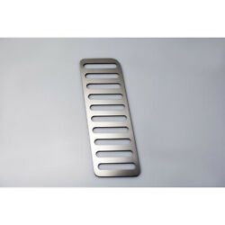 Polished Stainless Steel Dead Pedal Trim Plate For 2015-2016 Ford Mustang