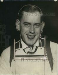 1925 Press Photo George R. Gray, Wounded Veteran Of Community Fund Drive