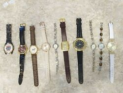 Lot Of 10 Mens/womens Watches-all Working, Citizen, Fossil, More See Ad Below