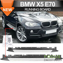 For 2007-2013 Bmw E70 X5 Aluminum Side Step Nerf Bars Running Boards Pedal Pair