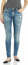 Silver Jeans Co. Womenand039s Kenni Girlfriend Relaxed Skinny Jeans