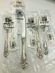 Sir Christopher By Wallace Sterling Silver Individual 4 Piece Place Setting, New
