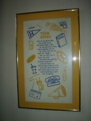 Vintage Teen Creed And Children Learn What They Live Framed Pictures