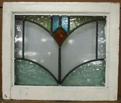 Old English Leaded Stained Glass Window Pretty Abstract Design 20.25 X 17