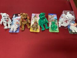 Rare Beanie Baby Mcdonald's Lot With Matching Reg. Sized