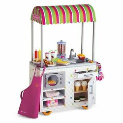 American Girl Campus Snack Cart For 18andrdquo Doll Ice Cream Hot Dogs Fries New In Box
