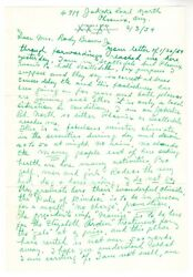 Ty Cobb Hand Written 4 Page Letter Signed Uncle Ty With Jsa Loa Financial Advice