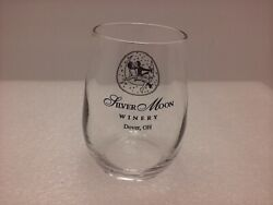 Silver Moon Winery 5 Oz Roly Poly 3.25 Stemless Wine Sample Glass Dover Ohio