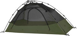 Camping Tent 2 Person Pop Up Dome Waterproof Clip-on Rainfly Included Green