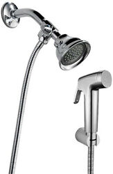 Dog Shower Sprayer With Arm Diverter Stainless Steel Hose Attachment Set