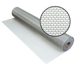 Window Screen 72 In X 100 Ft Tube Fabric Roll Aluminum Door Insect Protection