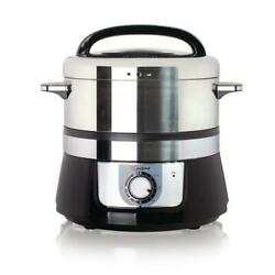 Food Steamer 3.4 Qt. Electric Stainless Steel Rice Cooker Removable Tray