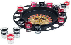 Drinking Game Shot Glass Russian Roulette Wheel Spinning With 2 Metal Balls