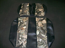 Ez-go Rxv Hunting Golf Cart Vinyl Seat Covers-front/rearblack W/camo