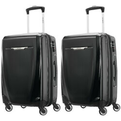 Samsonite Winfield 3 Dlx Spinner Hardside Luggage 20 Carry-on Black 2-pack