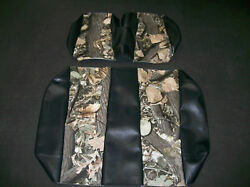Ez-go Txt 2014-up Hunting Golf Cart Vinyl Seat Covers-front/rearblack W/camo